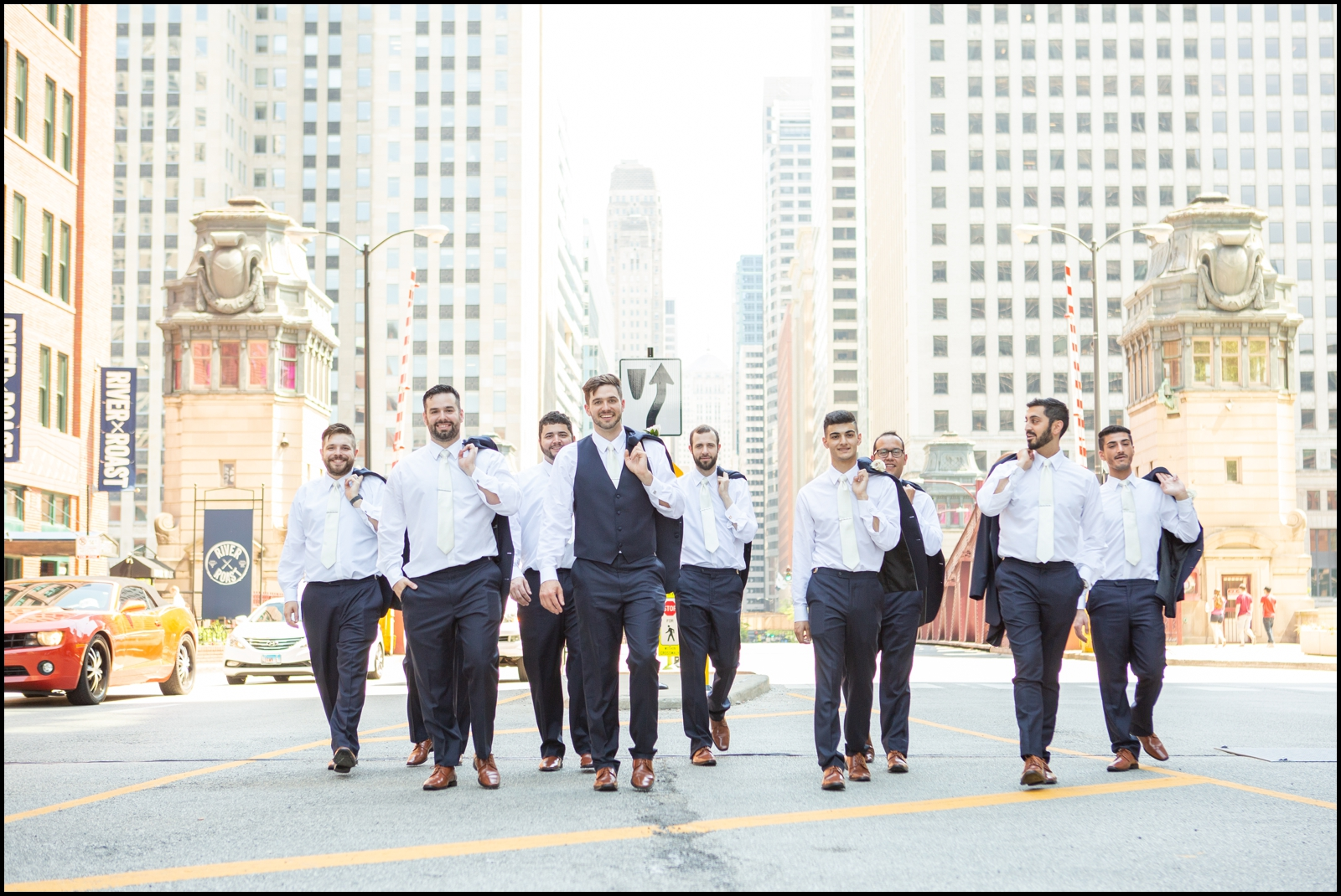 Groomsmen in Chicago