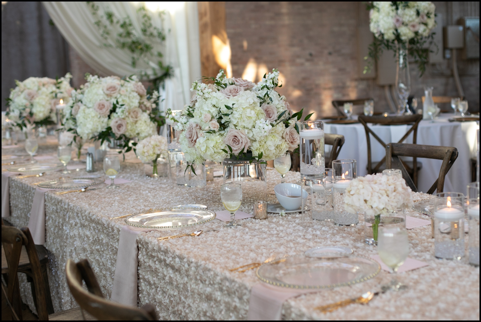 All white wedding theme
