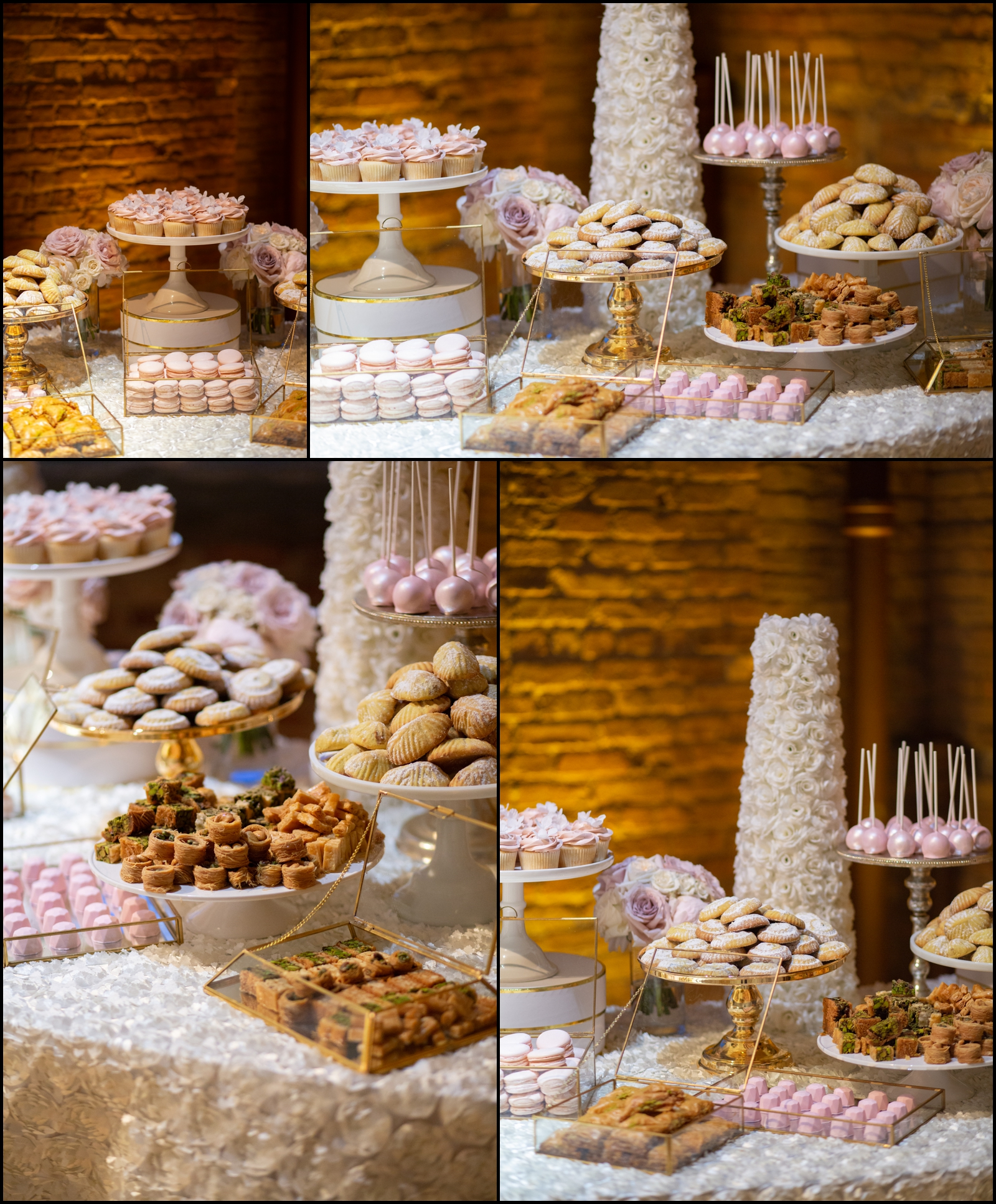 Wedding Cake and Dessert Table Display