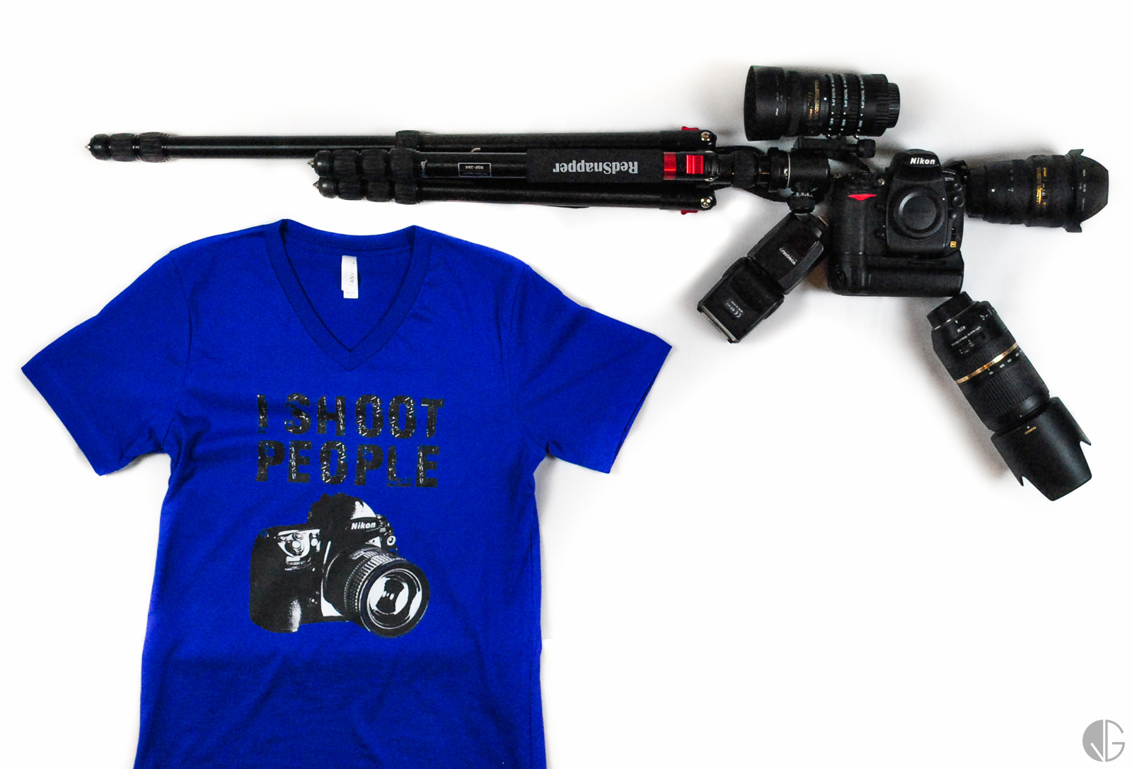 This was my gear at the time, plus a t-shirt received as a present, to go with it all.
