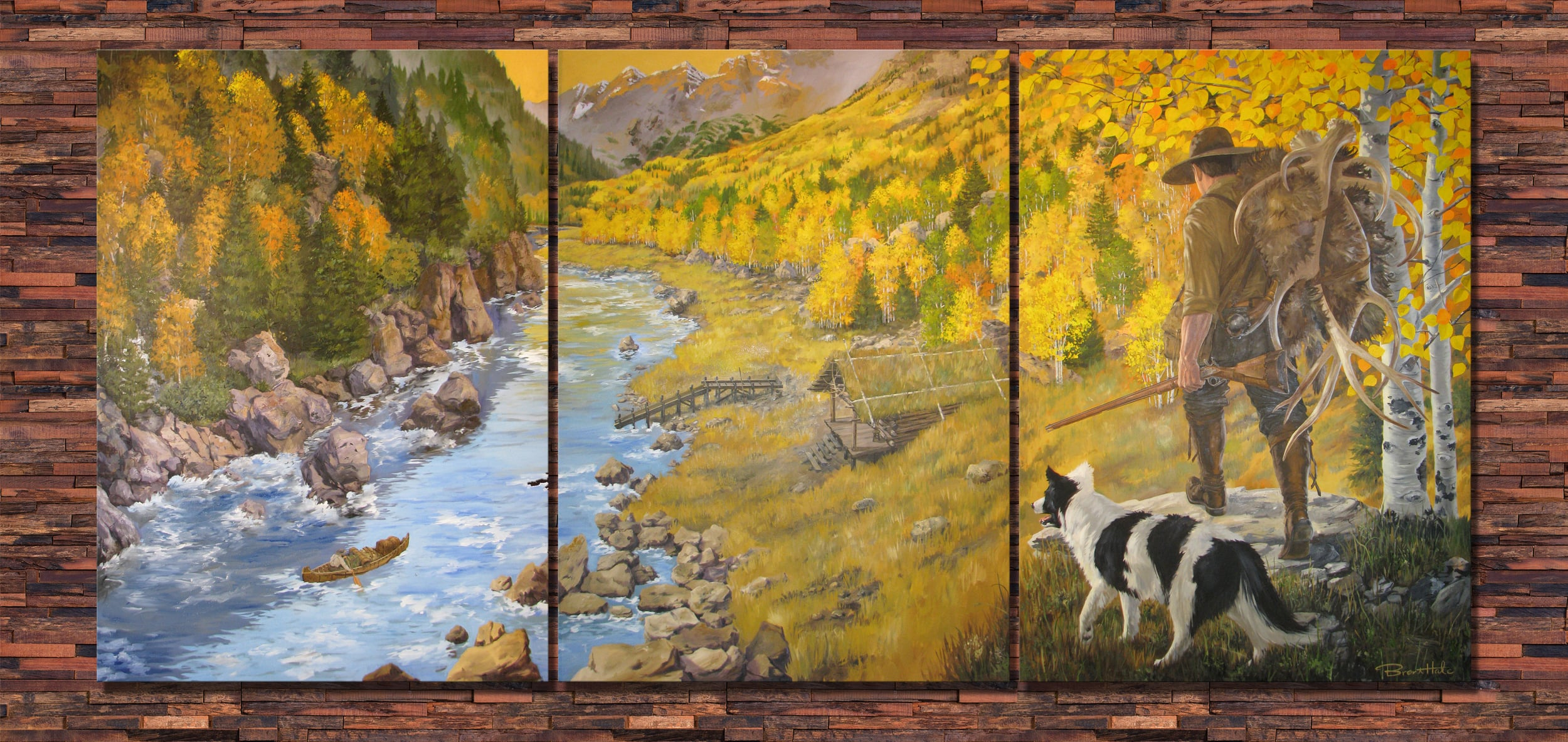 Privately Commissioned Art - Oil on Canvas (7'x15')