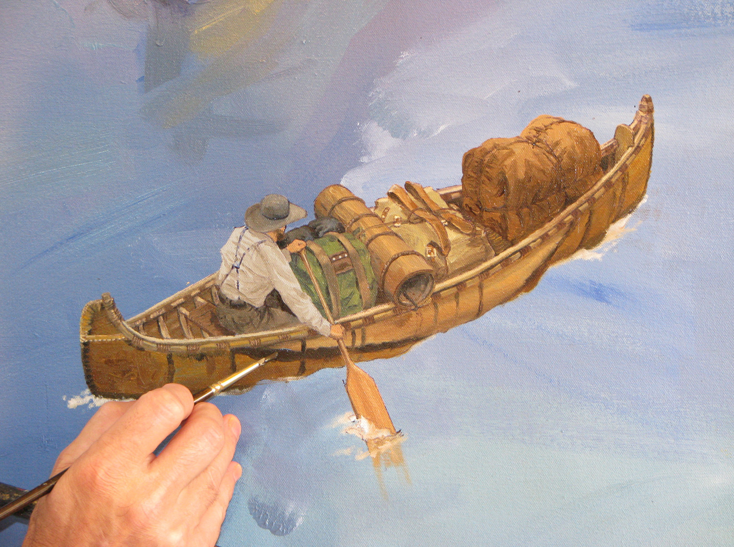 Privately Commissioned Art - Oil on Canvas (7'x15') Detail
