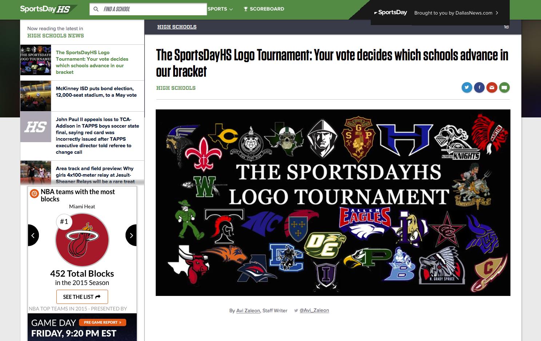 The SportsDayHS Logo Tournament