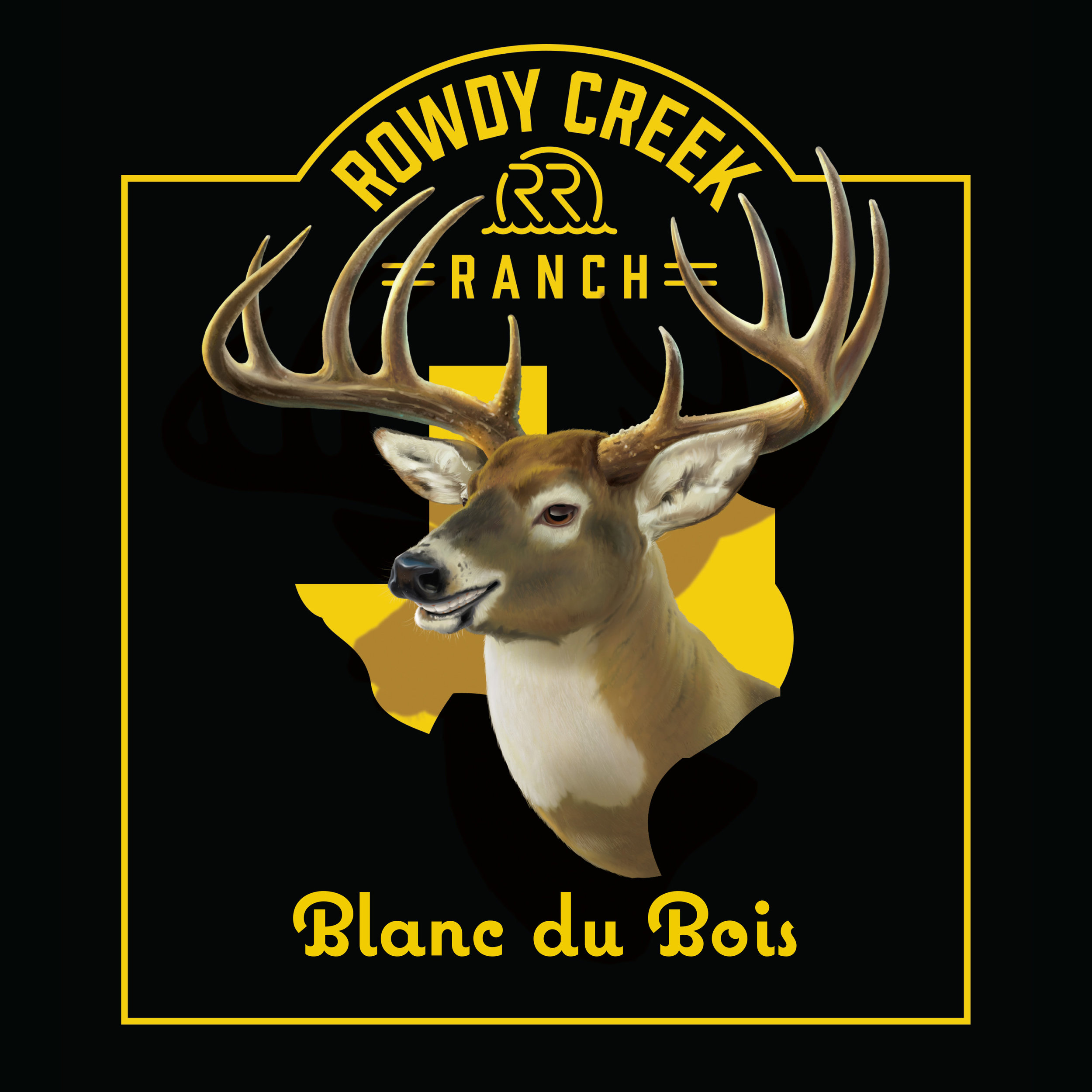 Rowdy Creek Ranch Blanc du Bois Wine Label