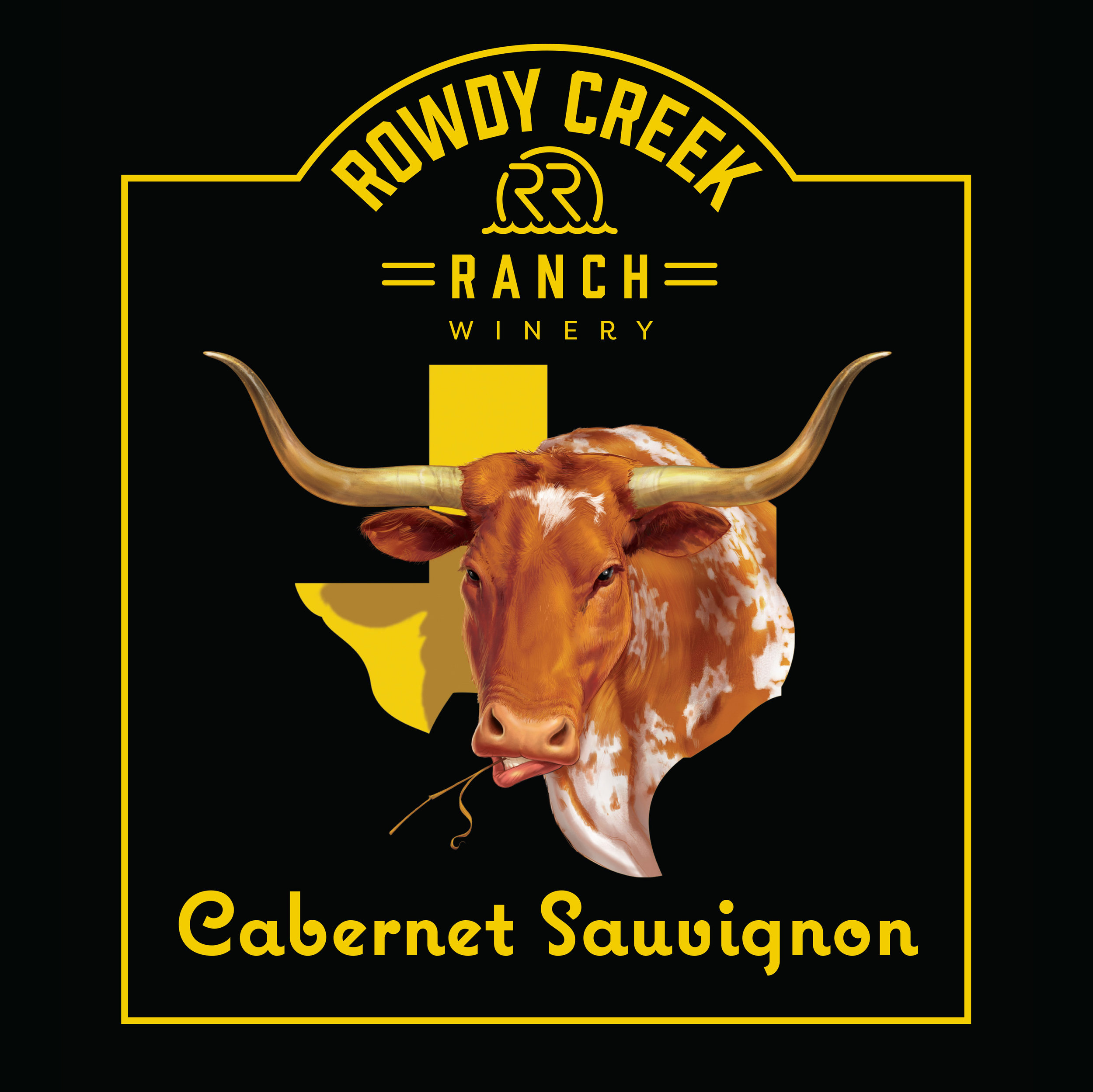 Rowdy Creek Ranch Cabernet Sauvignon Wine Label