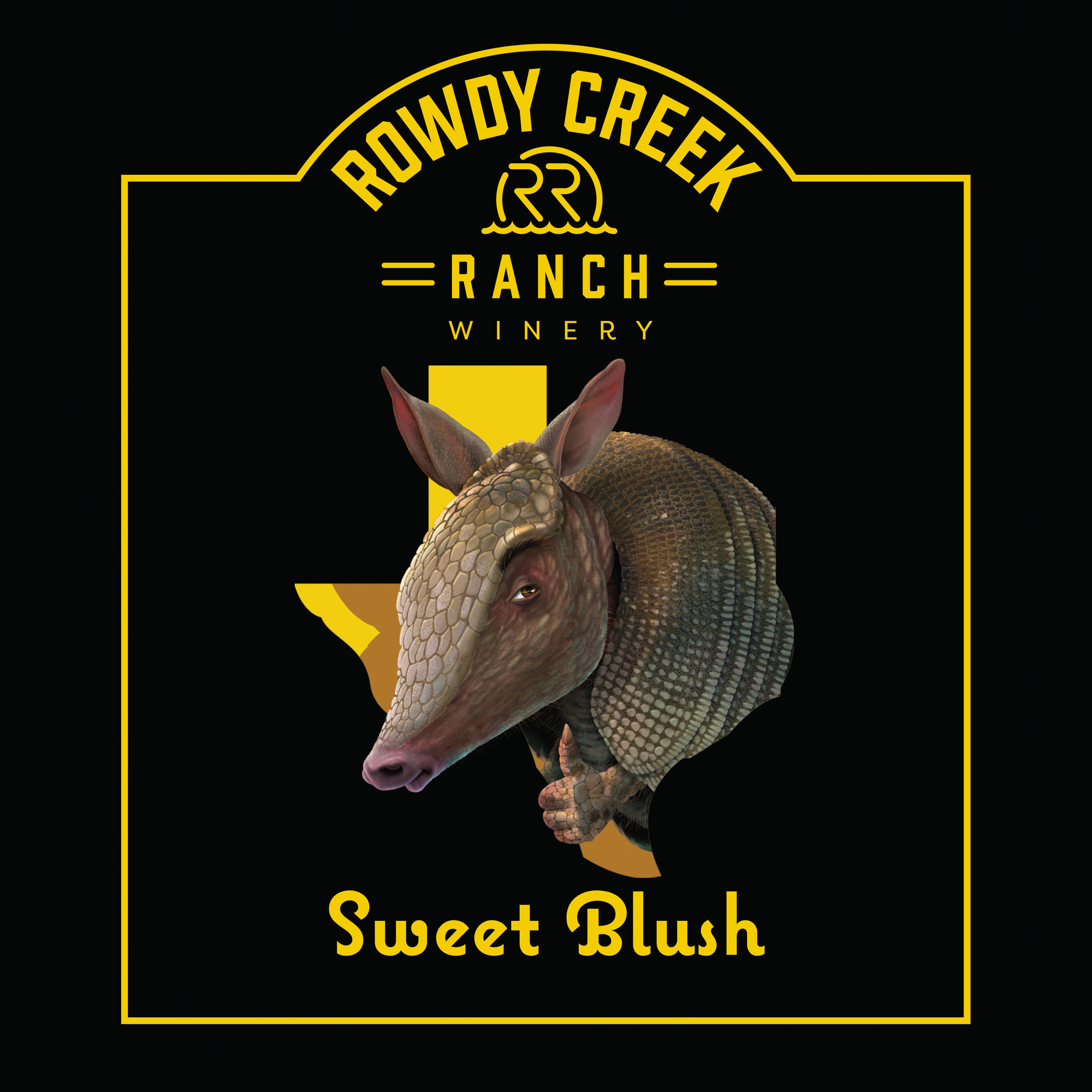Rowdy Creek Ranch Sweet Blush Wine Label
