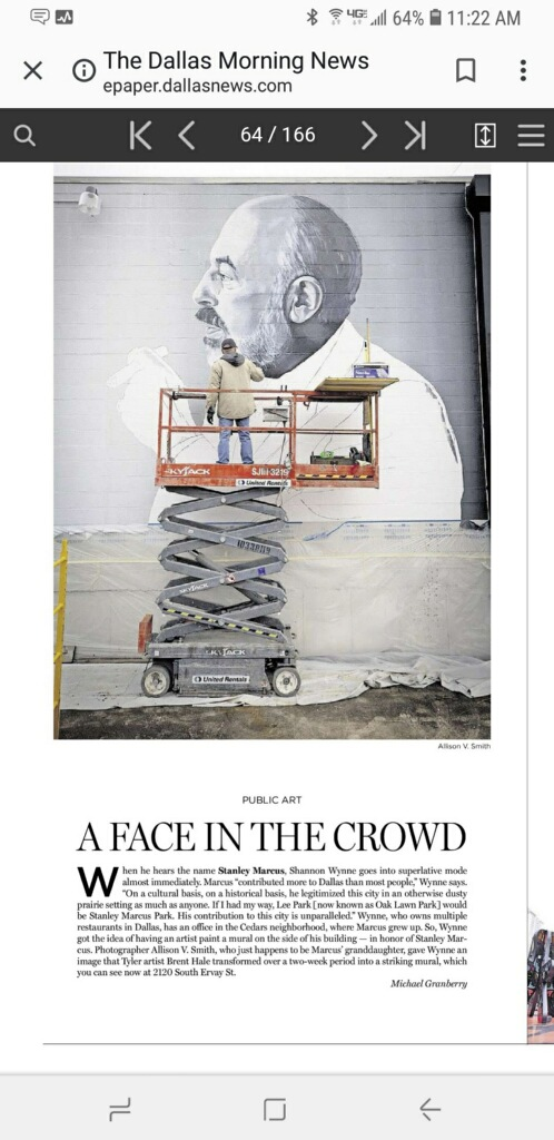 The Dallas Morning News Wrote a nice piece about the mural. And D Magazine gave a shout out as well.