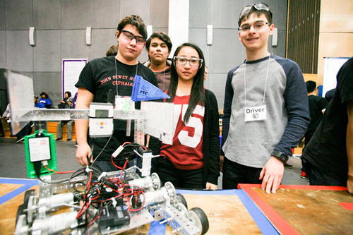 Dewey does the robot: High school is gadgetry proving-ground