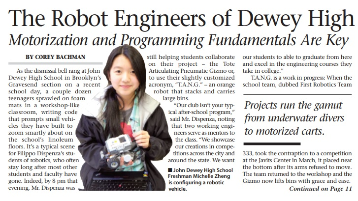 The Robot Engineers of Dewey High