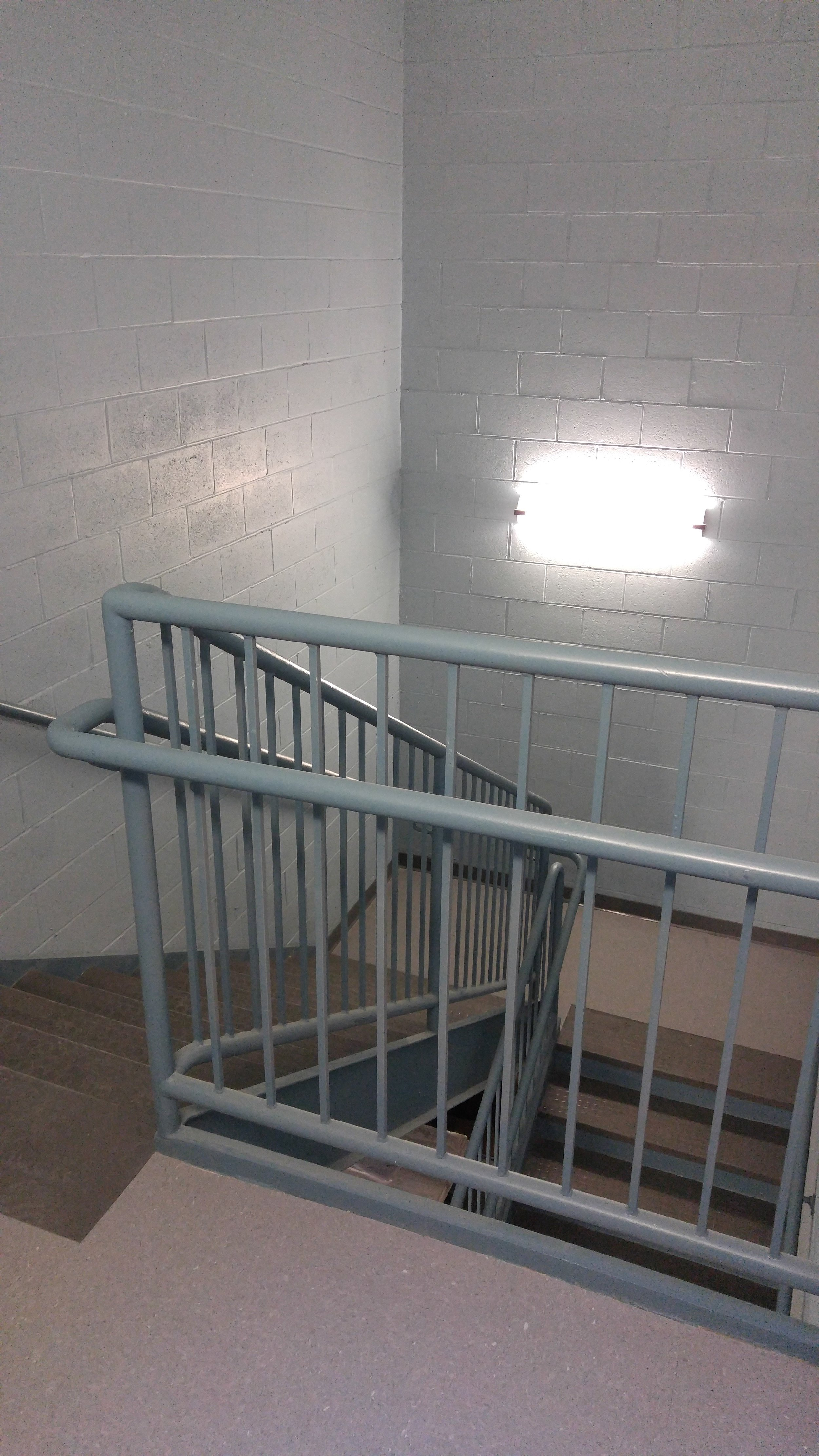 commercial hallway and railing painting