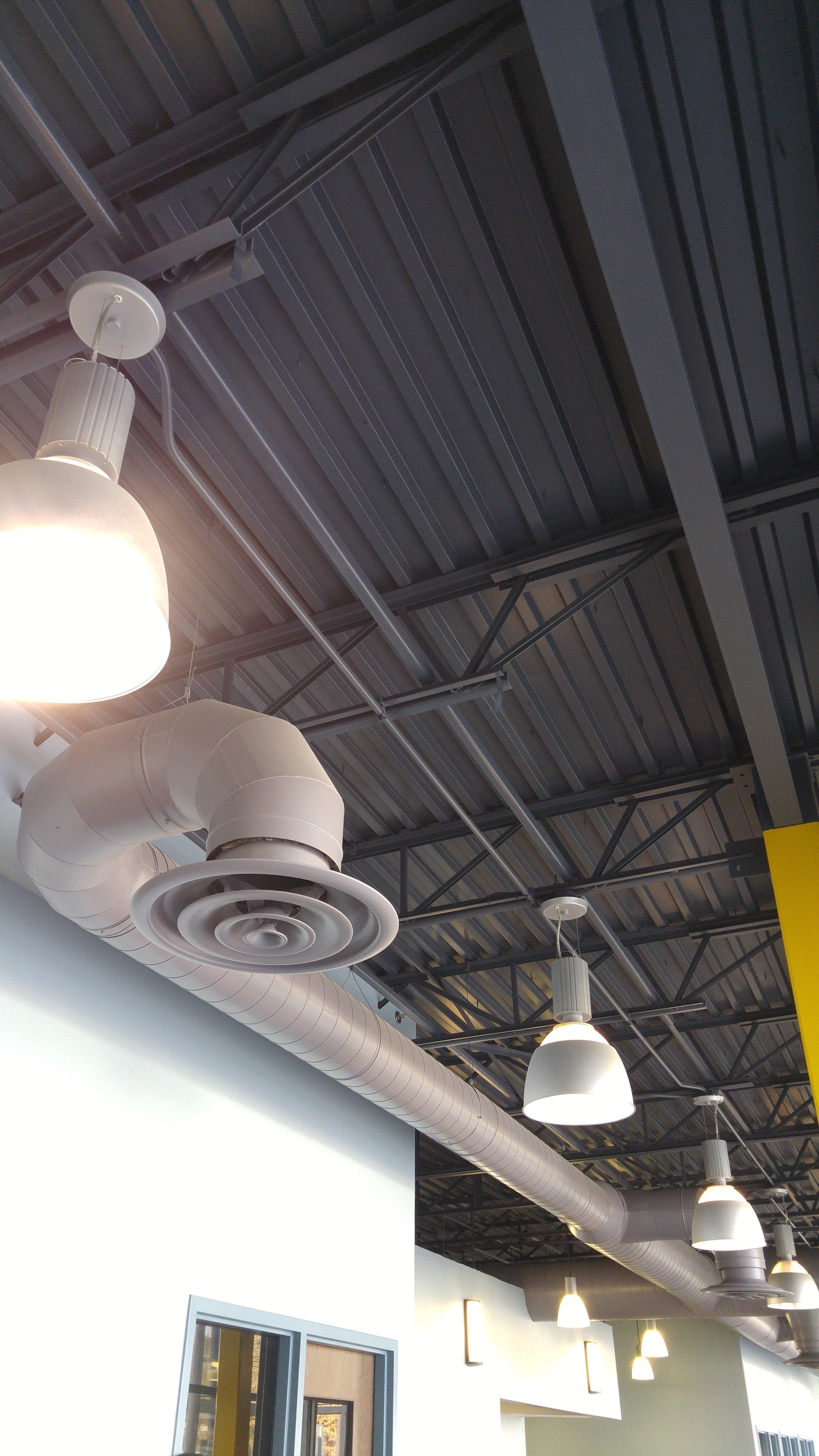 industrial ceiling medical office building walls painting