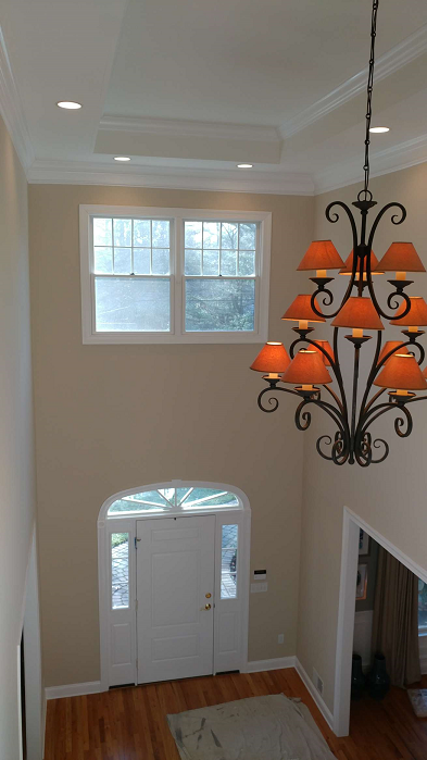 foyer painting with vaulted ceilings