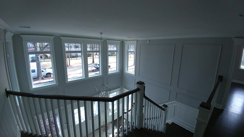 foyer wall painting with picture molding