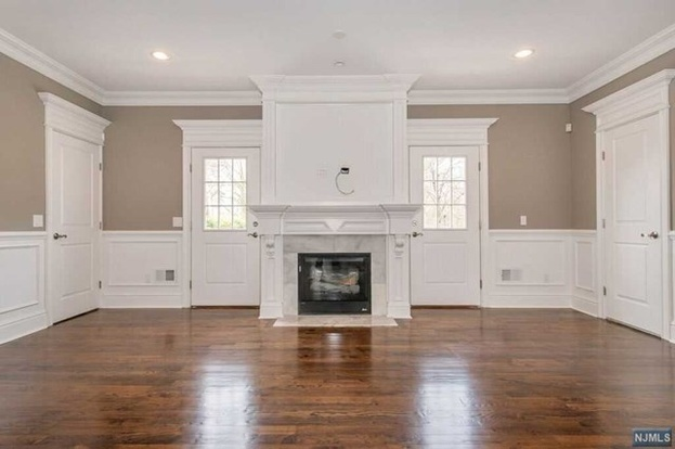living room and fireplace painting