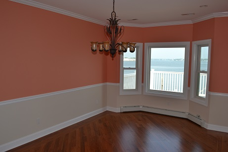 chair rail and accent wall painting