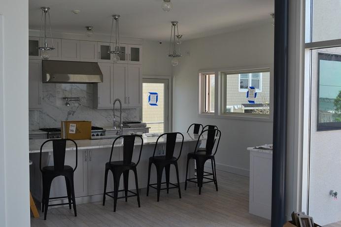 custom painting in open kitchen