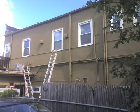restaurant painting exterior masonry building