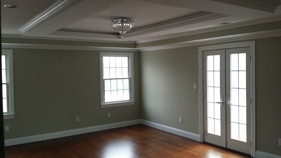 master bedroom wall and molding painting