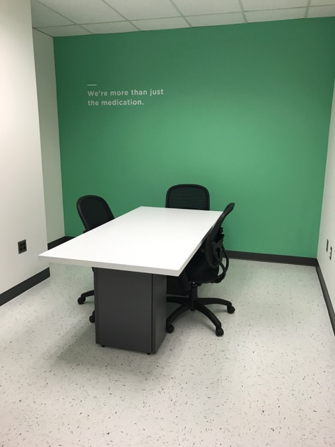 Interior office accent wall painting
