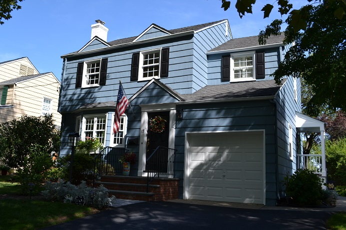 exterior cedar shake wood siding painting by exterior residential painting company