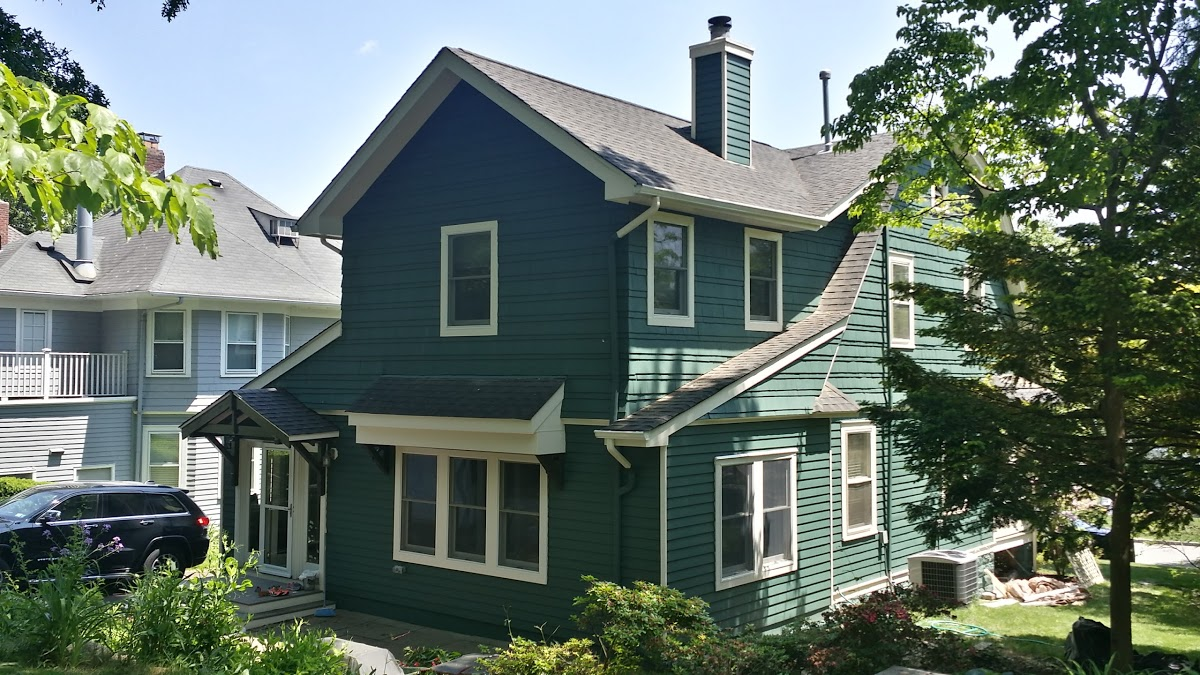 exterior painting company paints exterior cedar shake wood siding