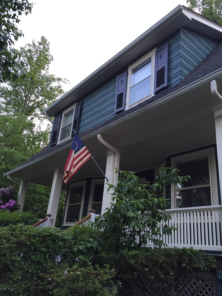 exterior painting of cedar shake wood siding by house painters
