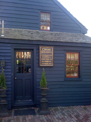 exterior wood painted blue