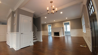 sherwin williams requisite gray living room painting