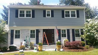 exterior vinyl siding painting with vinyl safe painting and brick whitewashing