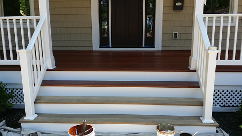 exterior deck staining with arborcoat