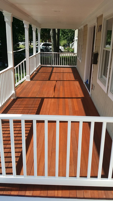 deck and porch staining with arborcoat