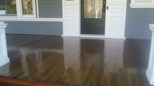 exterior deck staining