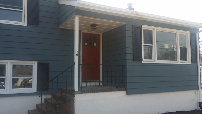 exterior aluminum siding painting by professional house painters