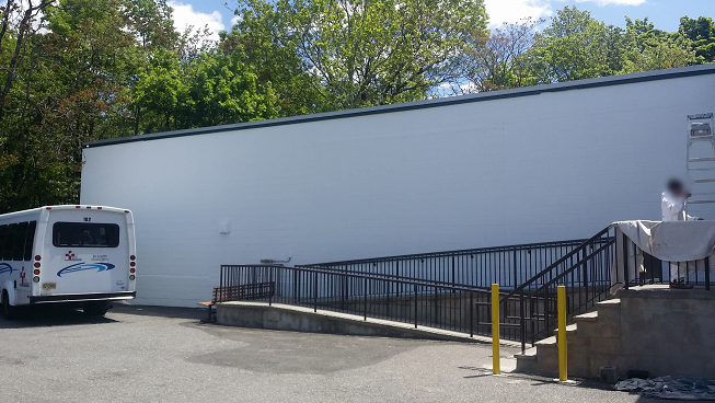 Exterior commercial building painting