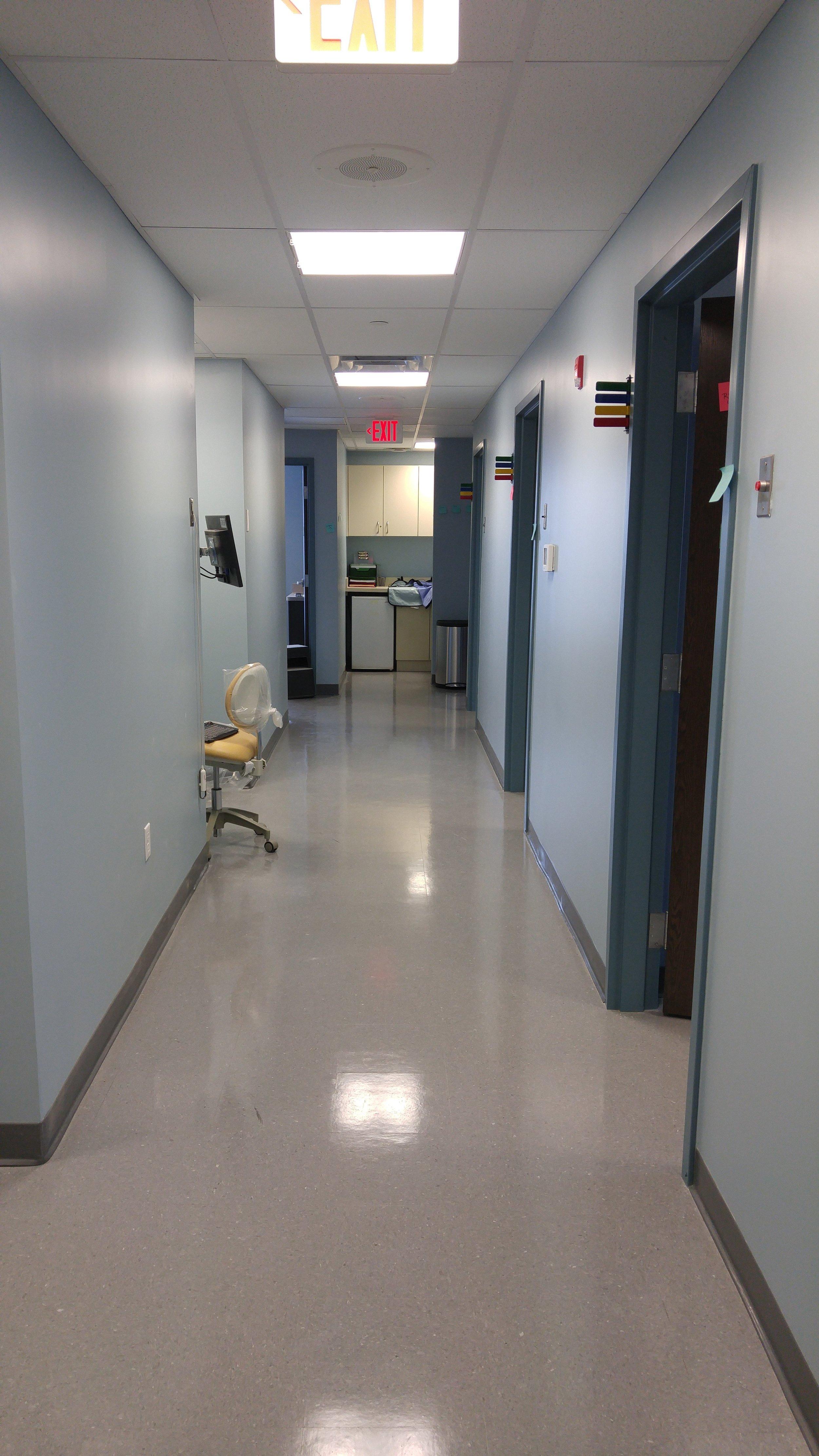 hospital hallway painting