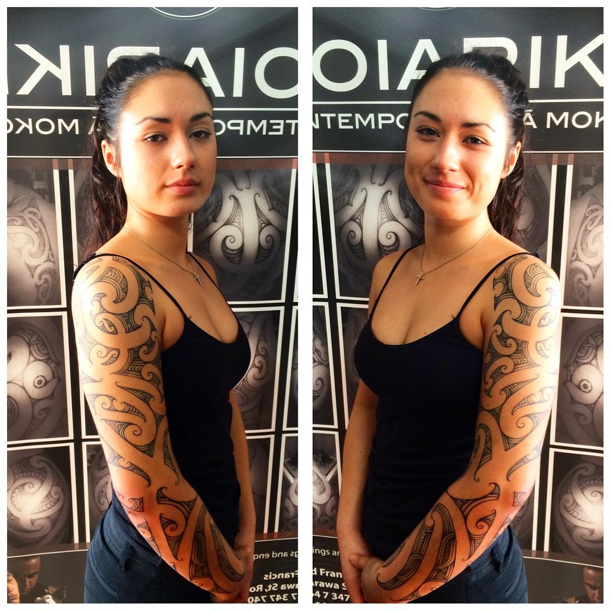 Female Ta Moko On Lips And Chin: Toiariki