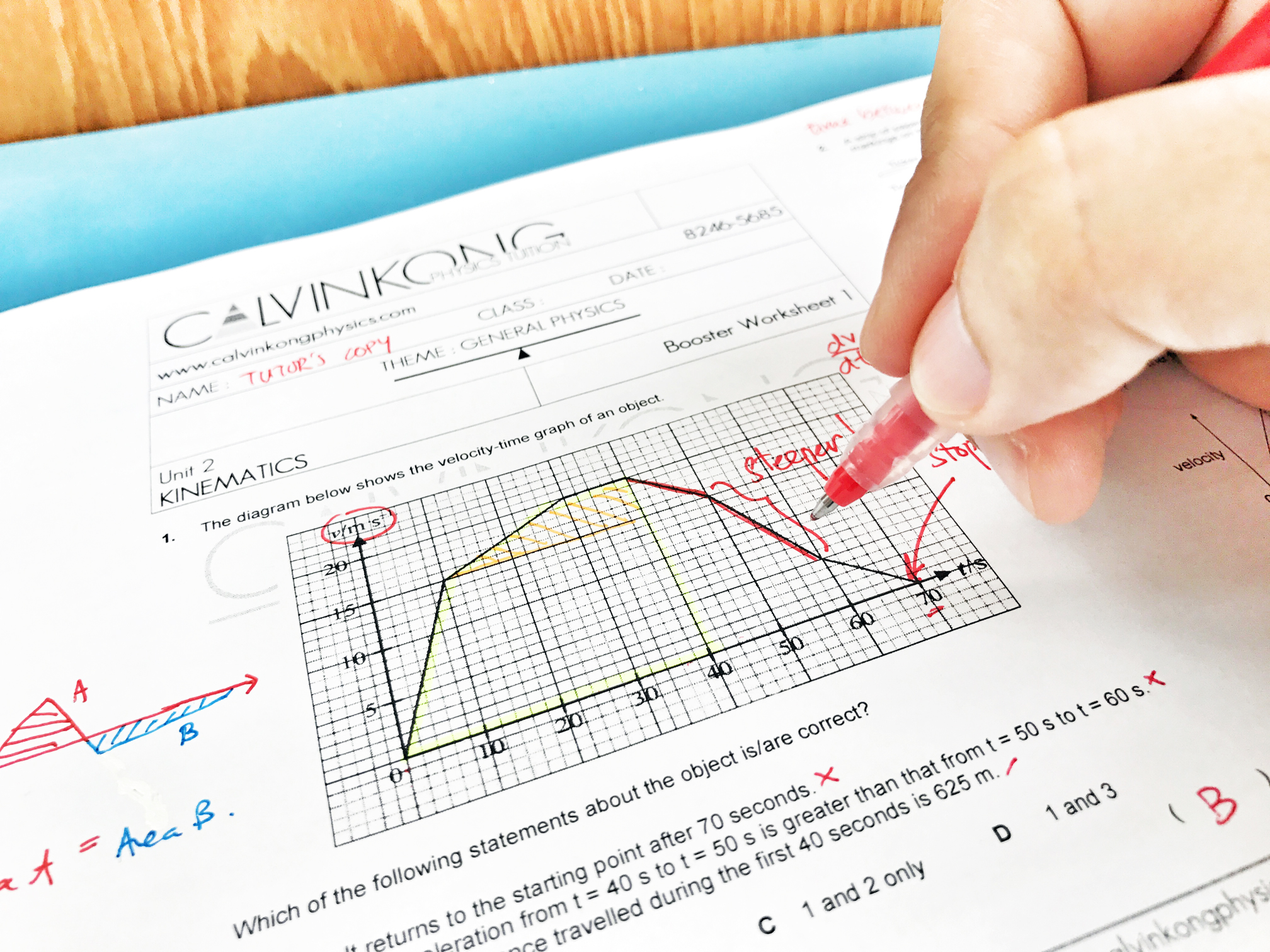 When Calvin Kong creates a new worksheet, he will put himself in the shoes of his students and do it. In doing so, he is able to anticipate the conceptual challenges faced by the students, ensures there is enough writing and sketching space, eliminates typographical errors and even ensure consistent font and sizes so that his students only receive the best learning experience.