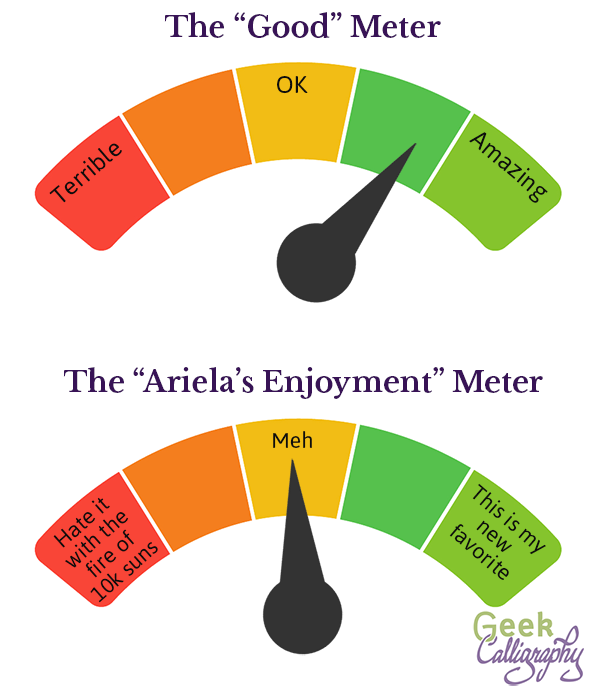 "The ""Good"" Meter and ""Ariela's Enjoyment"" Meter are different things."