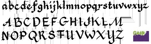 Geek Calligraphy Italic Sample