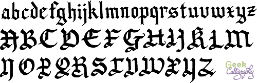 Geek Calligraphy Gothic Sample