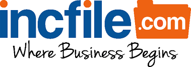 The logo of incfile.com, the company we used to incorporate.