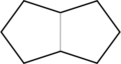Two regular pentagons that share one side, producing one regular nonagon that has bilateral symmetry along the x and y axes but not rotational symmetry