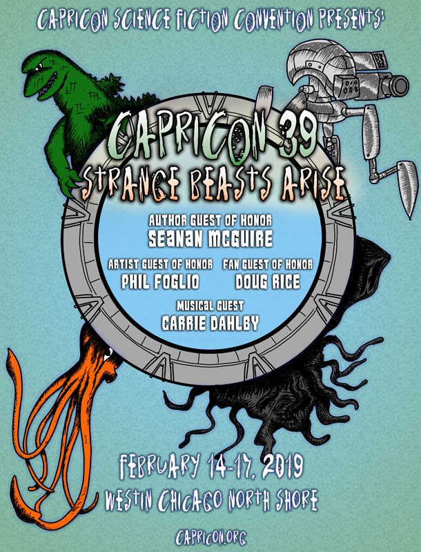 Flyer for Capricon 39: Strange Beasts Arise