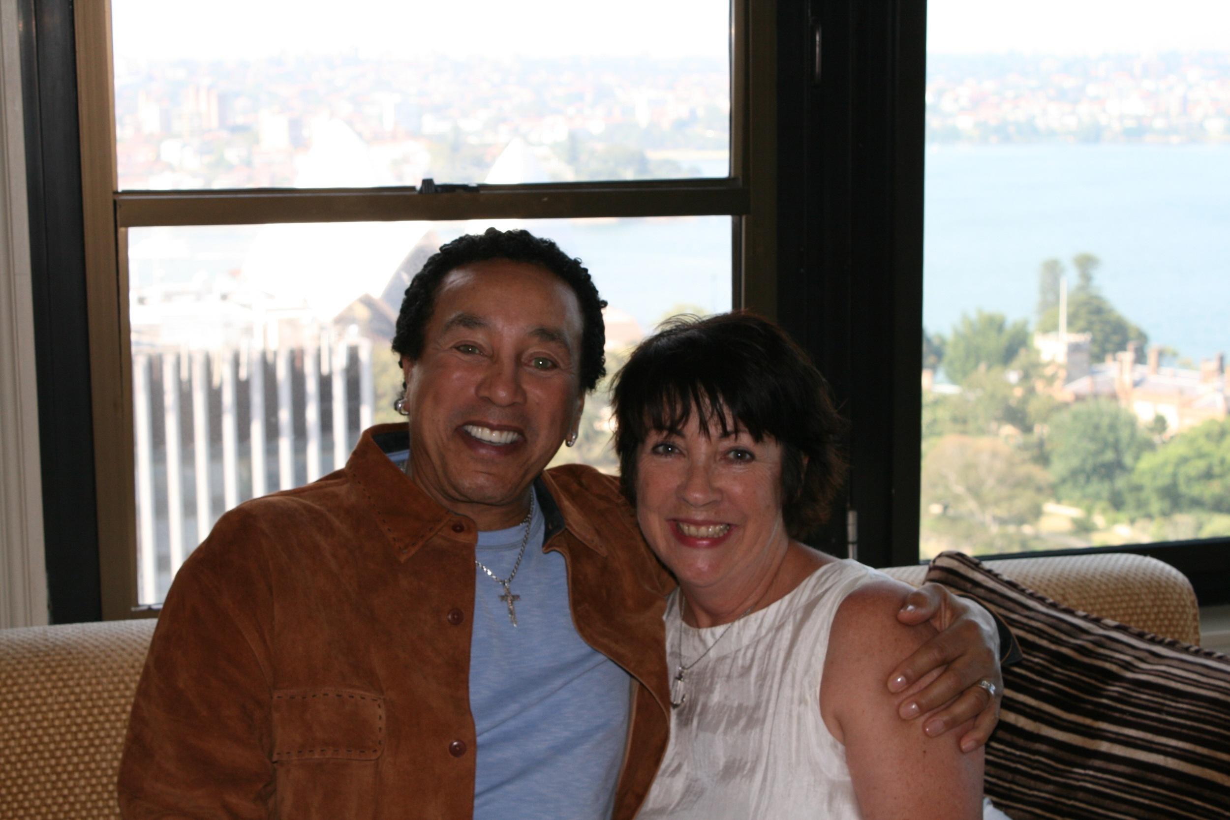 Angela Catterns and Smokey Robinson
