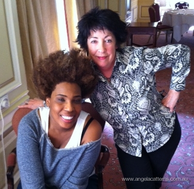 Macy Gray & Angela Catterns post interview   -   Sir Stamford Hotel, Sydney, 2012      Enjoyed meeting and interviewing Macy Gray during her recent trip to Sydney.