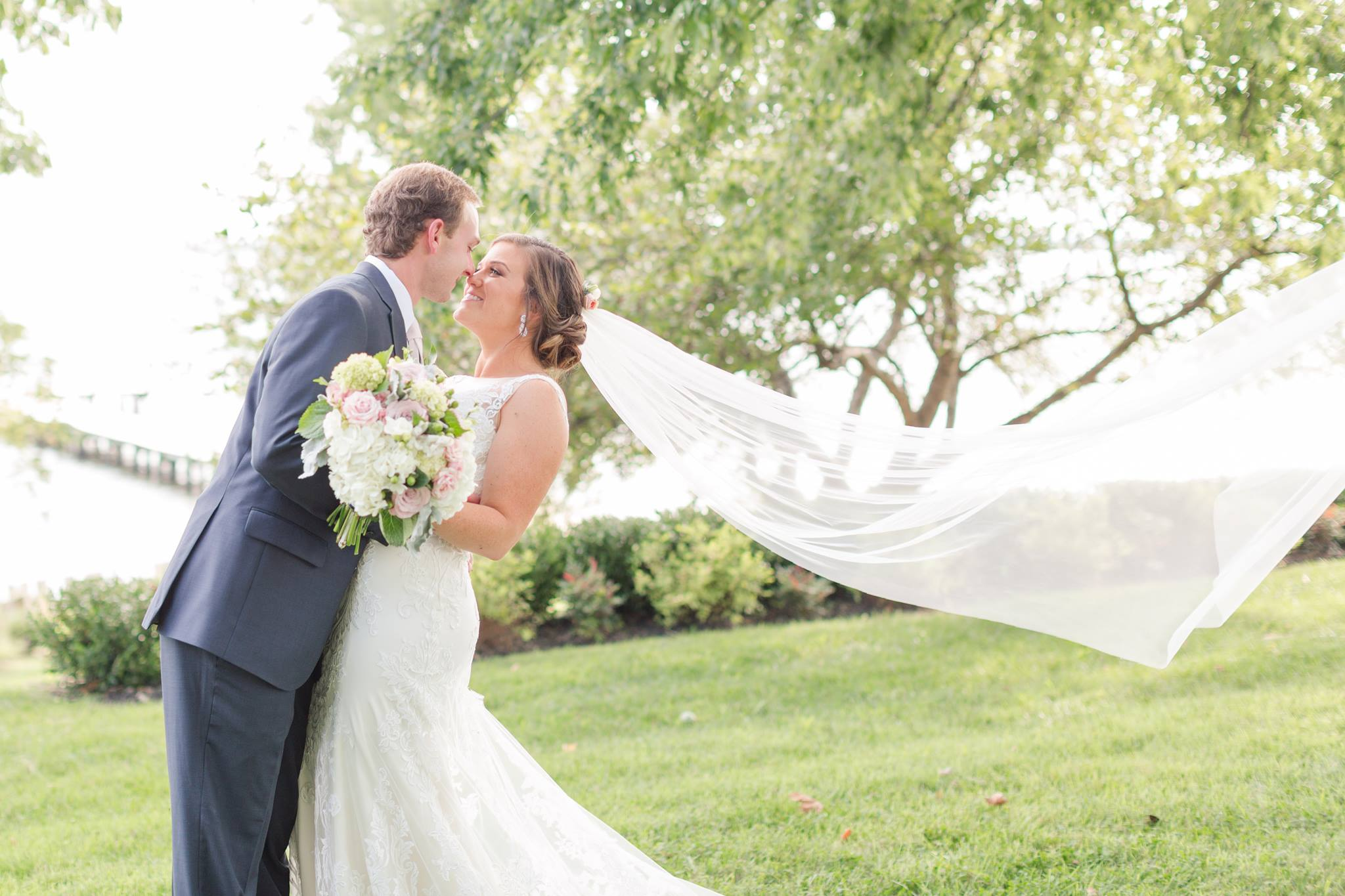 My husband and I got married, August 26, 2017 at The Bayfront Club in Sparrow's Point, Maryland! For a late August day, we had perfect 75 degree weather. It was truly the best day of my life! (PC: Anna Grace Photography)
