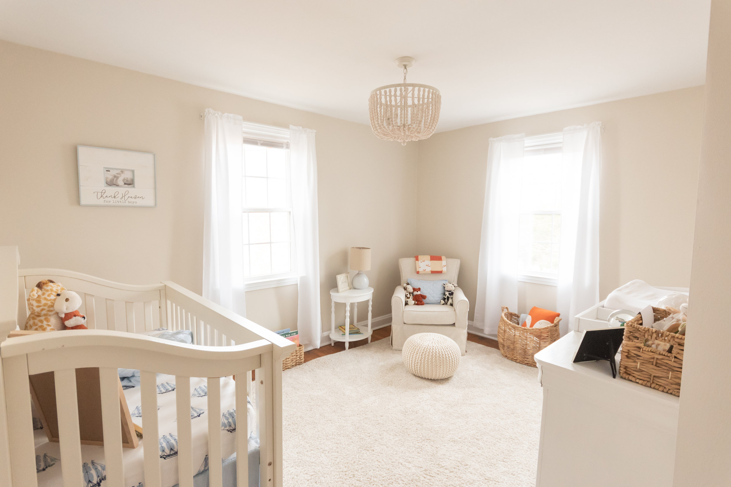 Tricia worked so hard on perfecting every detail of this nursery. I loved watching it be completed! SO much love went into it!