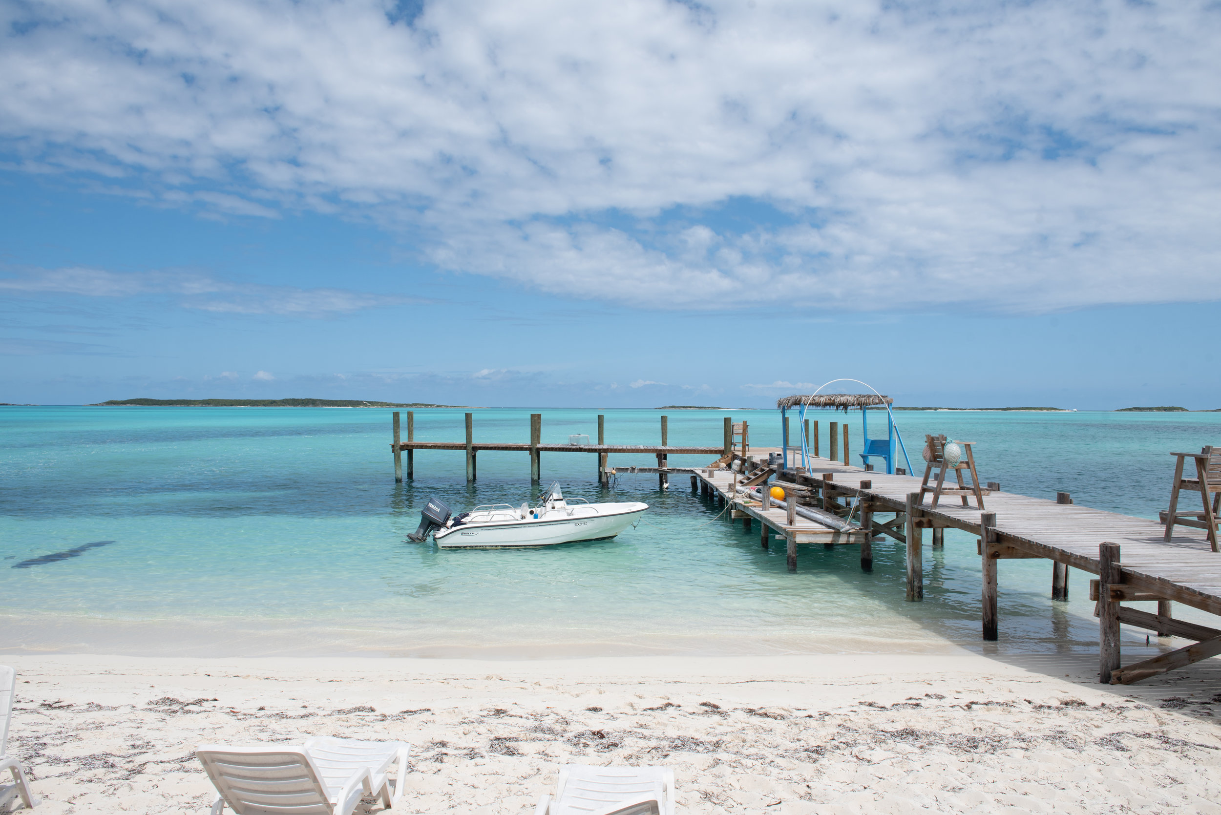 At our AirBnb, there was a restaurant and dock where you could rent jetskis, boats, paddleboards, kayaks, etc! The food was delicious at the restaurant (Exuma Point Beach Bar and Grill) and we loved getting to know the owners/our AirBnb hosts, Maryann and Elvis!
