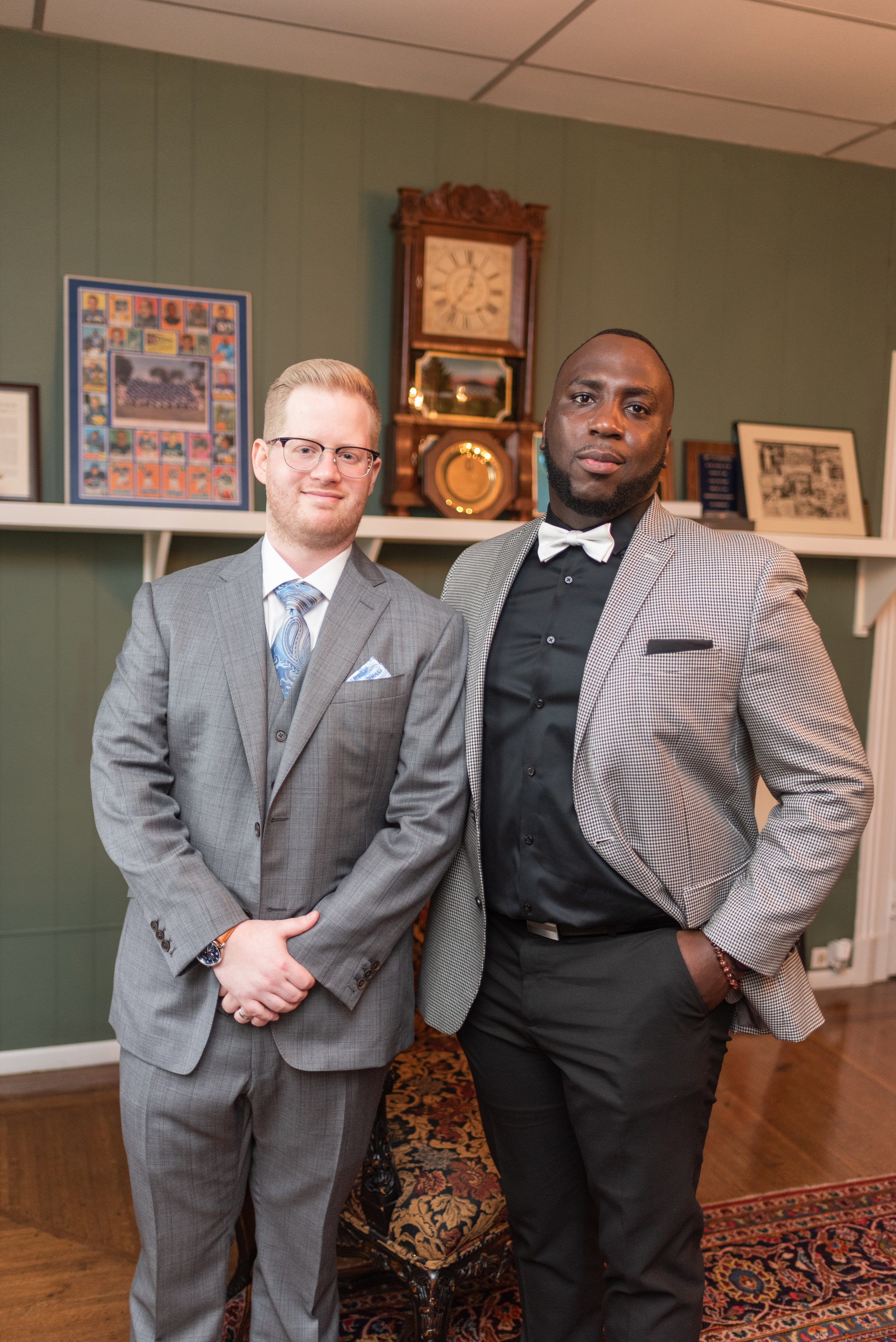 Fred and his best man! These two go way back! Don't be fooled by their tough look, they are both the sweetest most genuine guys!