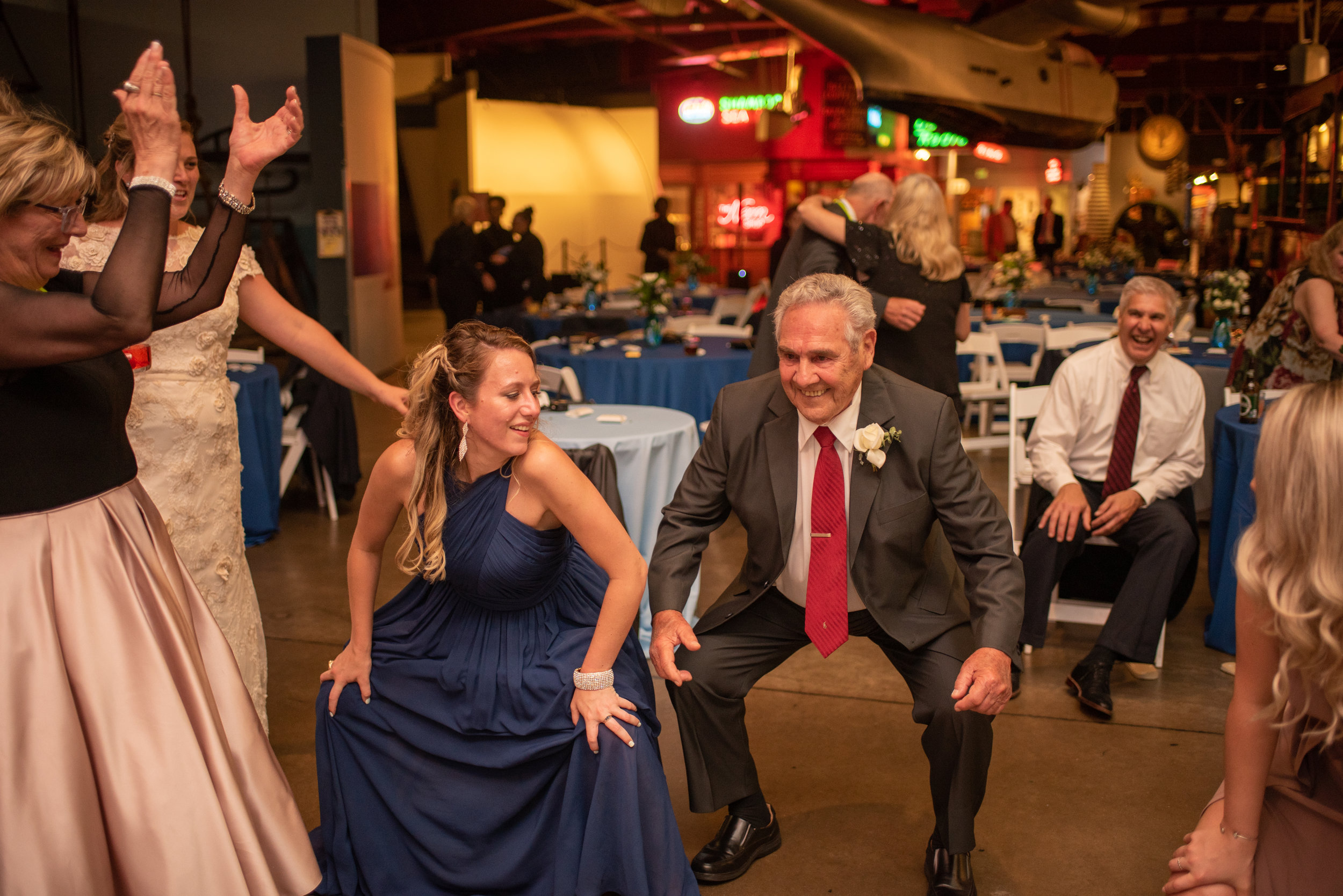 Grandpa was killing it on the dance floor!